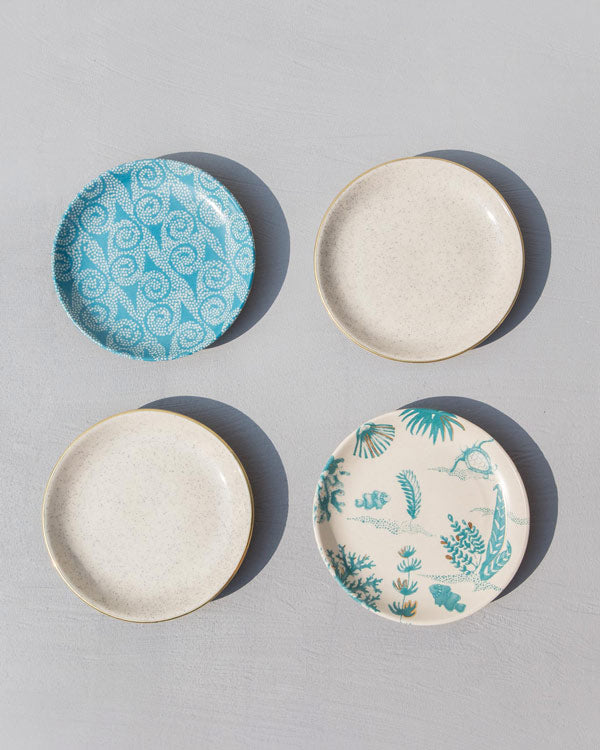 Oceanic Tea Plates (Set of 4)