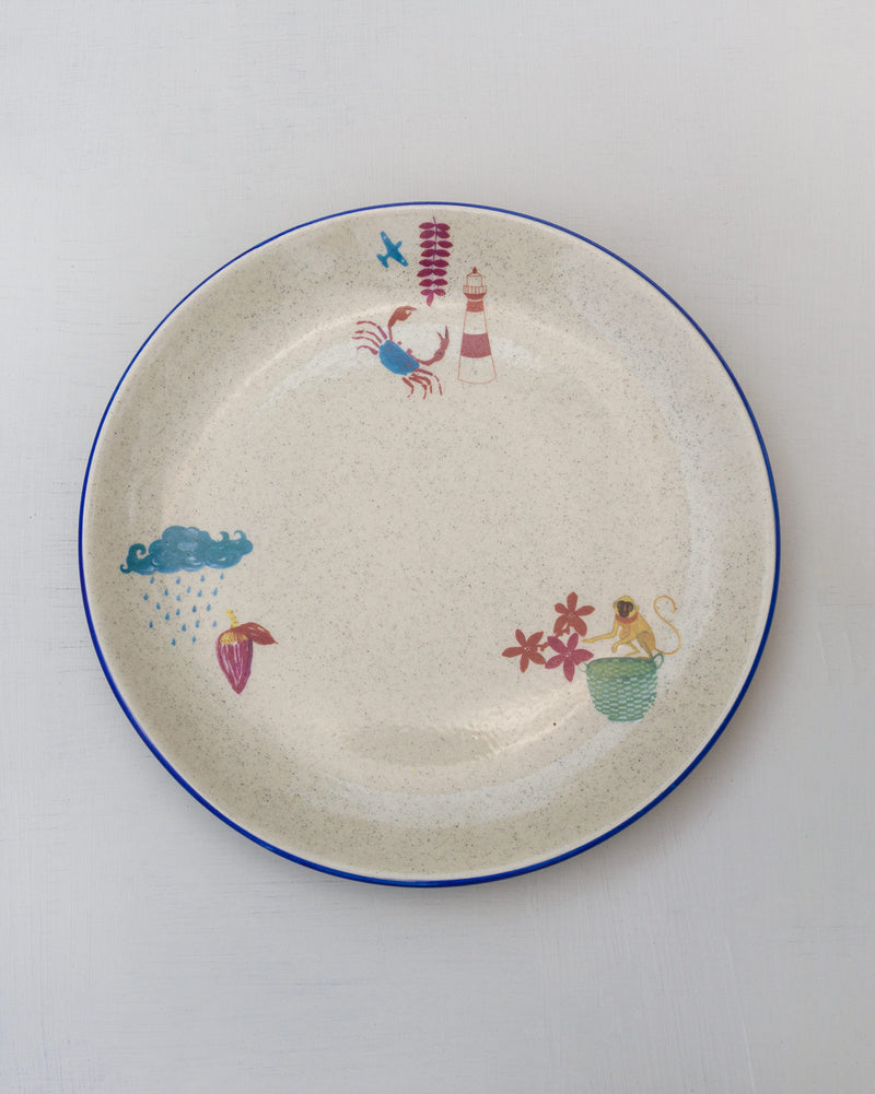 Nancowry Lighthouse Dinner Plate