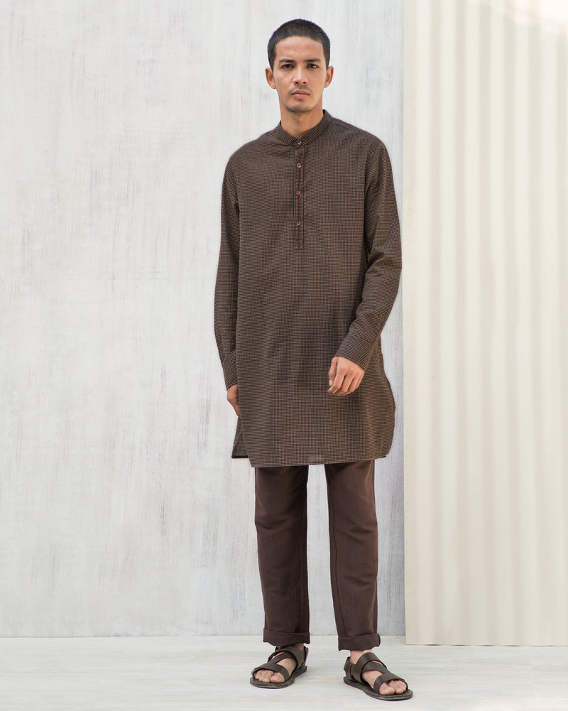 Chandni Chowk Kurta - Brown