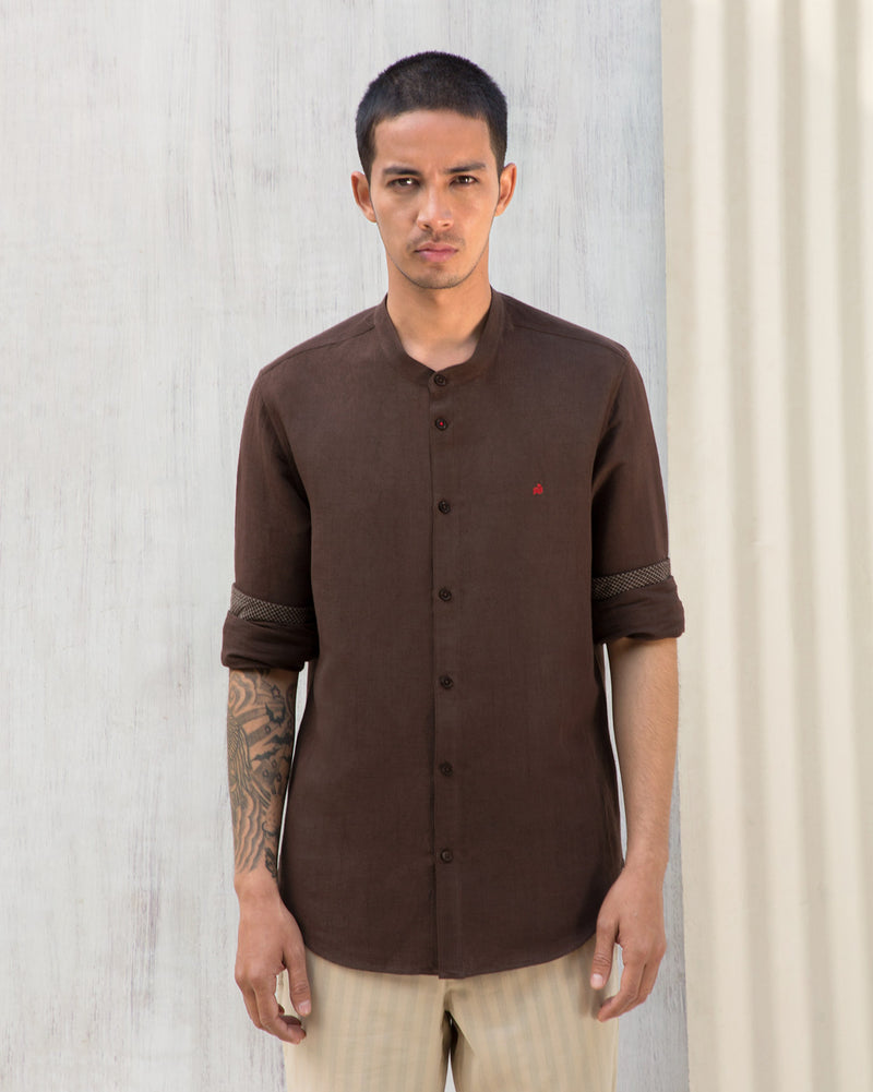 Nawab Shirt - Brown