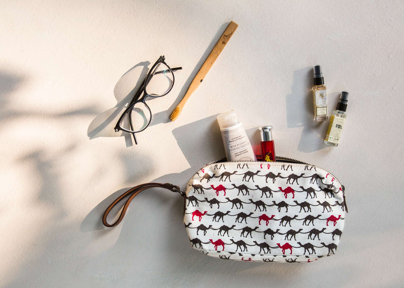 Camel Make-up Pouch