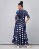 Nico Dress - Indigo & White