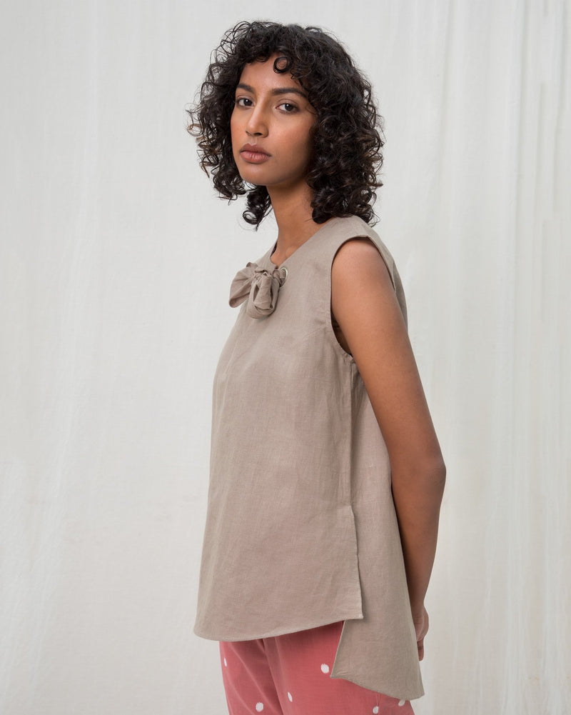 Rivet Top - Grey