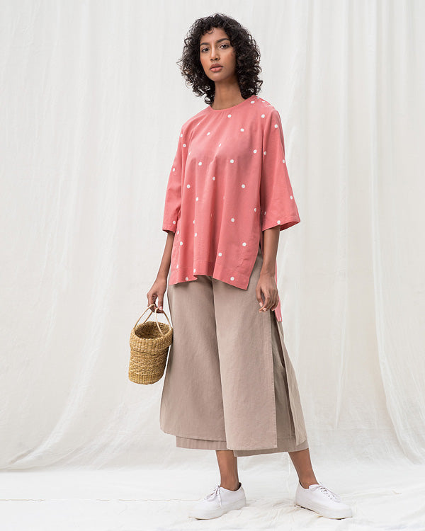Curved Hem Top - Pink