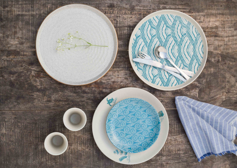 Oceanic Quarter Plate (Set of 2)