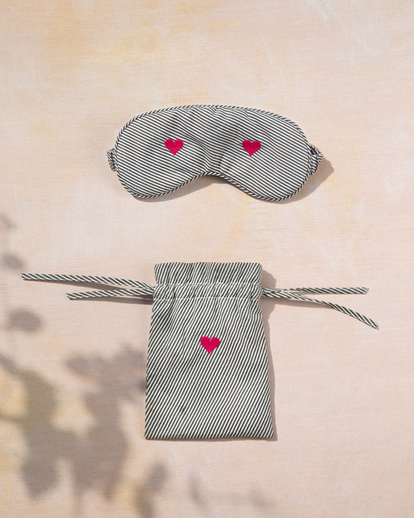 Heart Snooze Eye Mask & Pouch