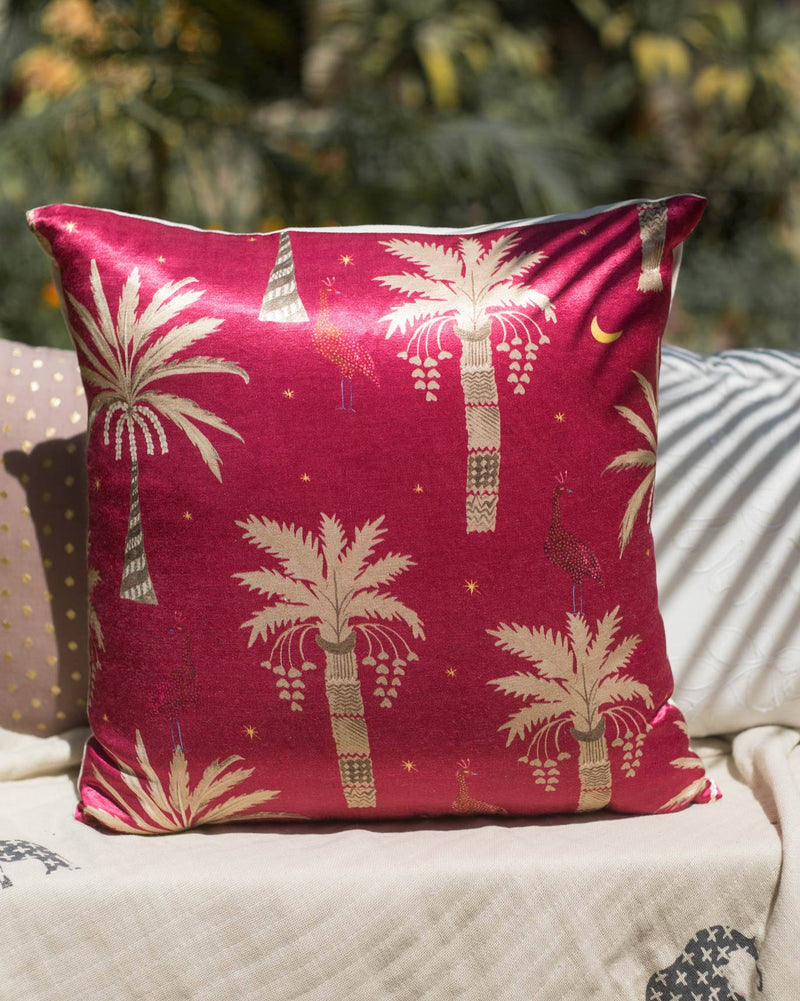 Palm Tree Cushion - Pink