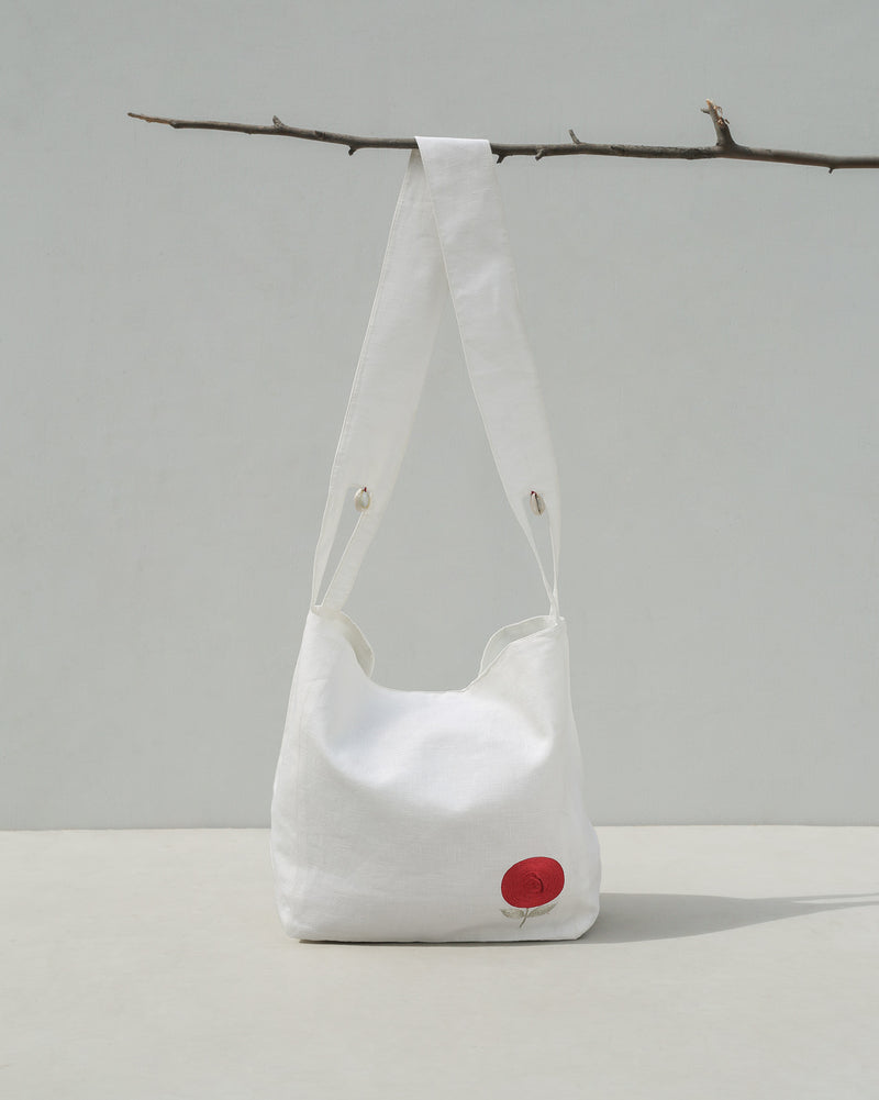 Sitth Bag - Ivory & Red