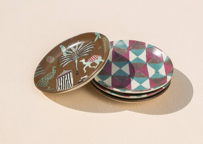 Tribe Tea Plates (Set of 4)