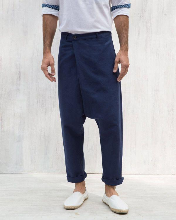 Slouchy Pants - Navy