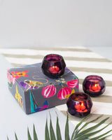 Blush Votives With Scented Tealights (set of 4)