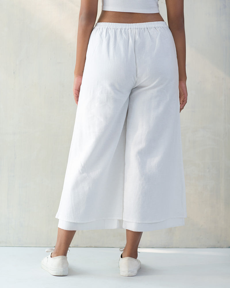 Marshmallow Pants - White on White