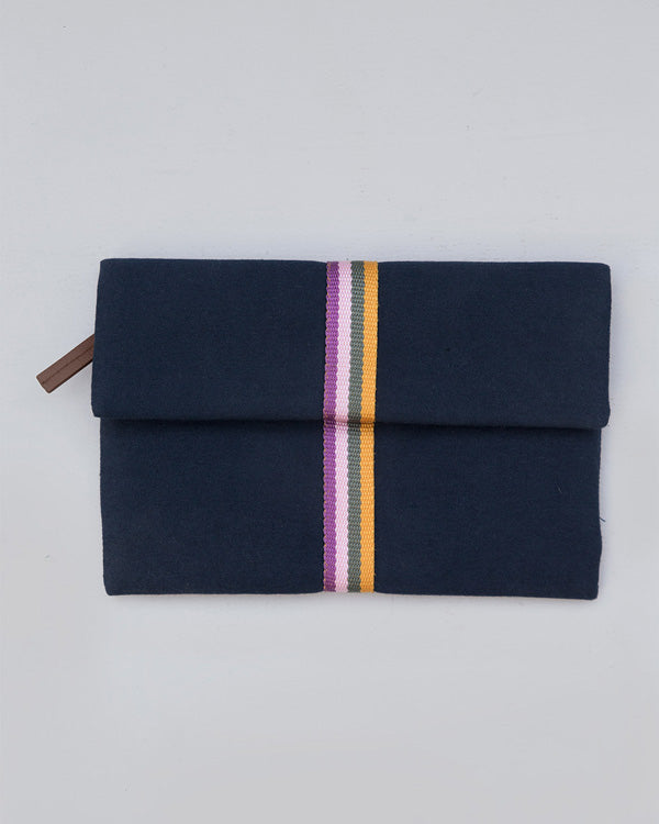 Fold Over Clutch - Navy