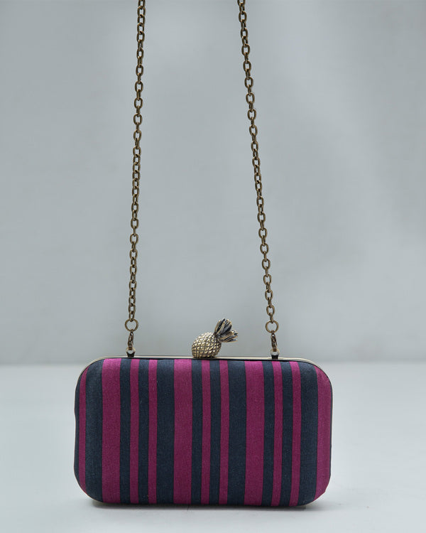 Ananas Stripe Clutch