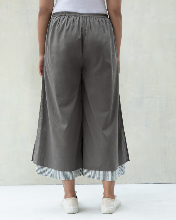 Marshmallow Stripe Pants - Charcoal