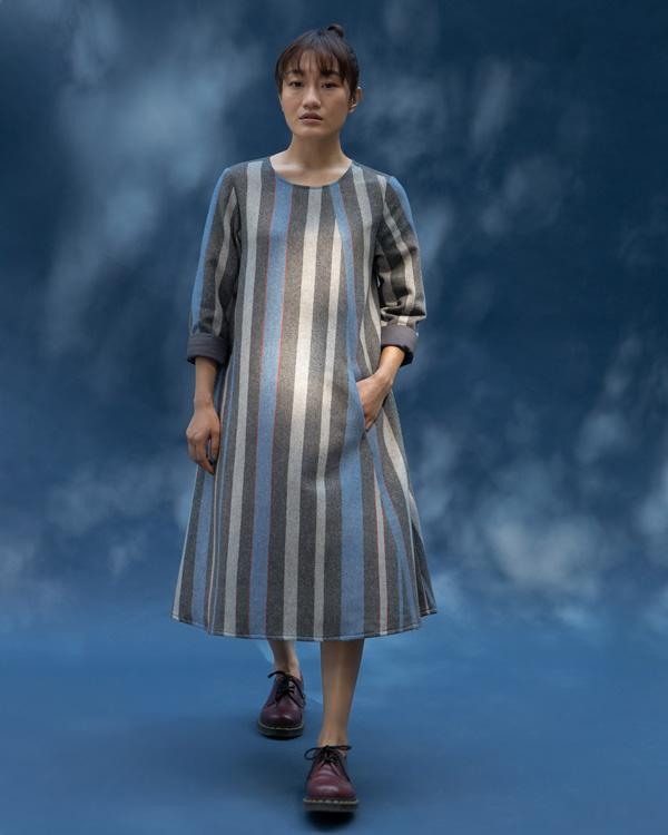 Round Neck Stripe Dress