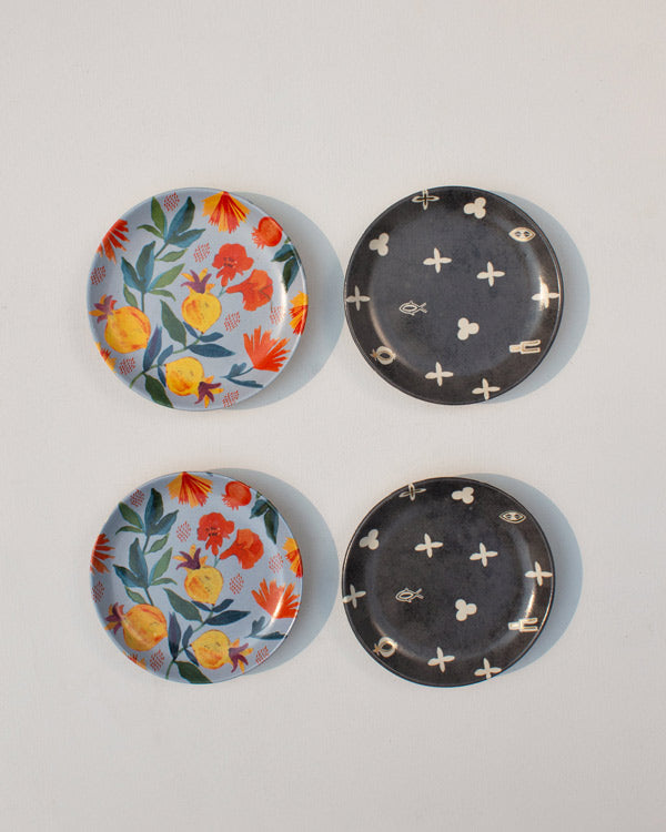Rose charm Tea Plates (Set of 4)