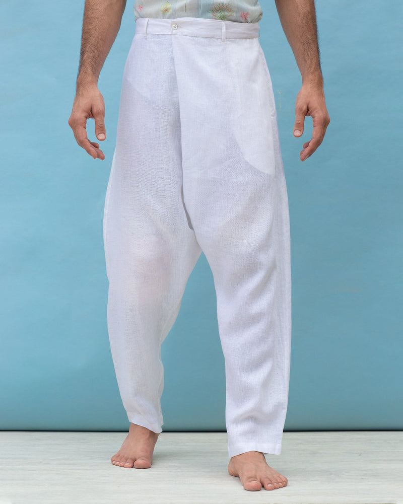 Slouchy Pants - White
