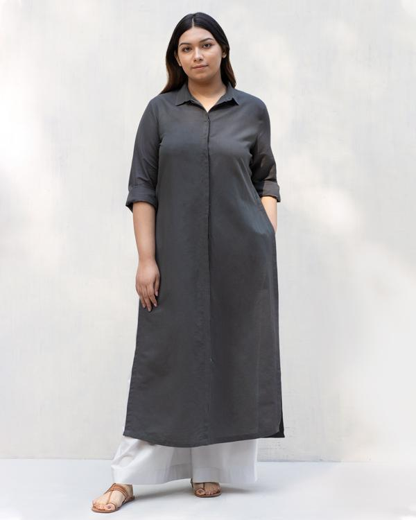 Many Moons Kurta - Charcoal
