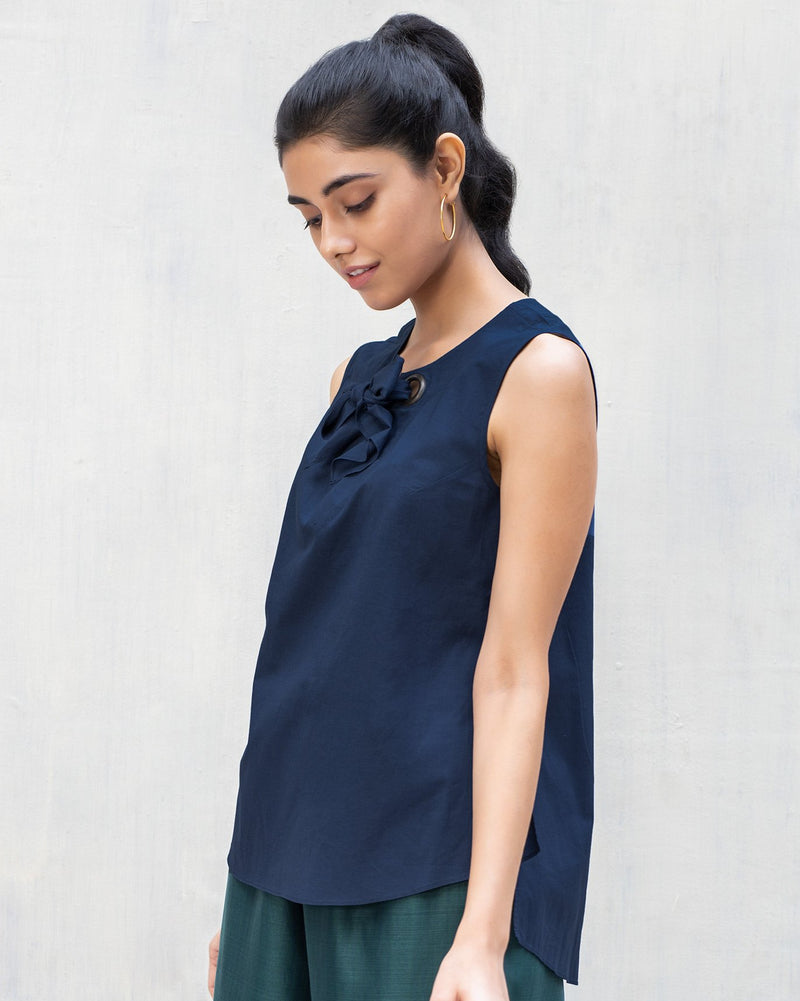 Rivet Top - Indigo