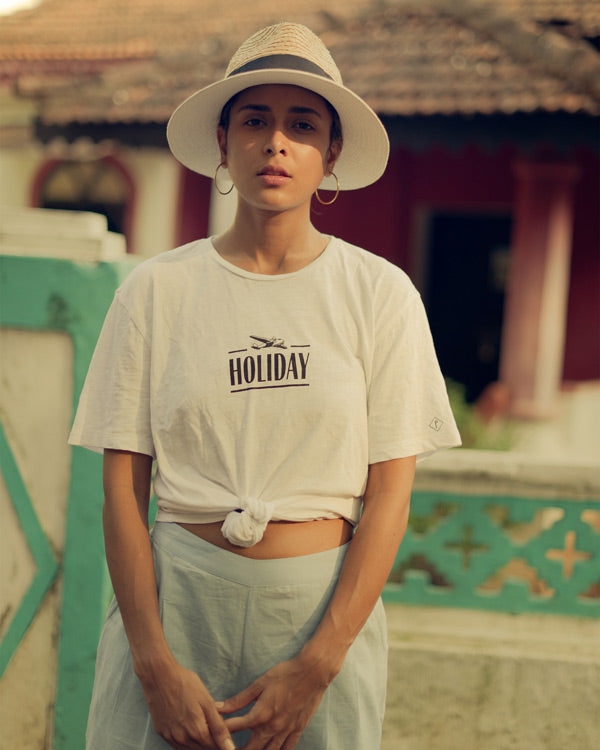 On Holiday T-Shirt - White