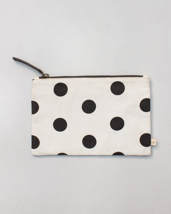 Stripe & Polka Pouch - Black & White