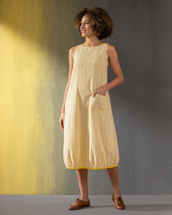 Joey Reversible Dress - Yellow & White