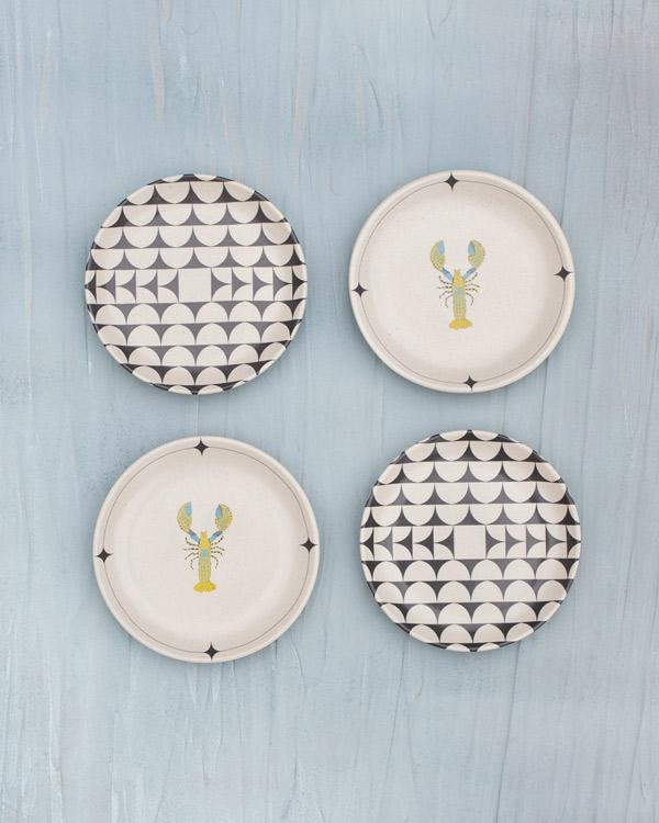 Zanzibar Tea Plates (Set of 4)