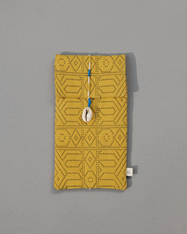 Jacquard Spectacle Case - Yellow
