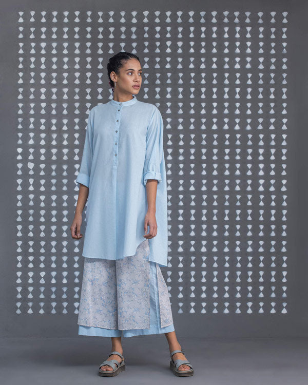 Back Tab Kurta - Blue