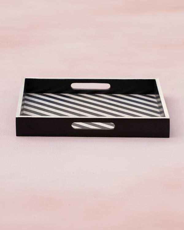 Mime Stripe Wooden Tray