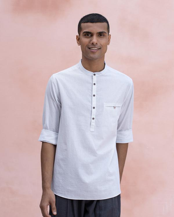 Pondicherry Stripe Shirt - Grey