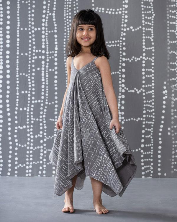Little Handkerchief Dress - Grey