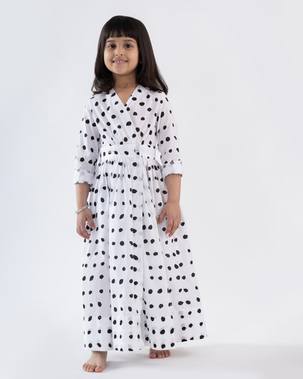 Little Nico Dress - White & Black