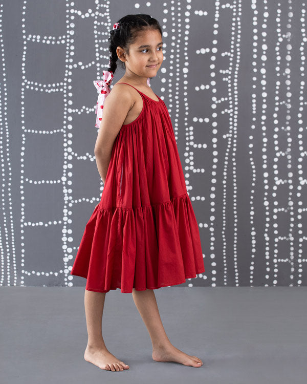 Little Huhu Dress - Red