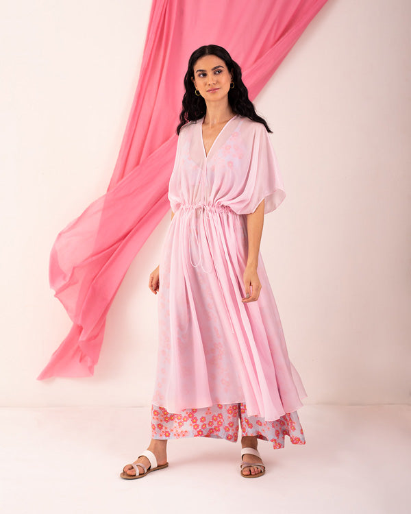 Gathered Waist Kurta - Pink