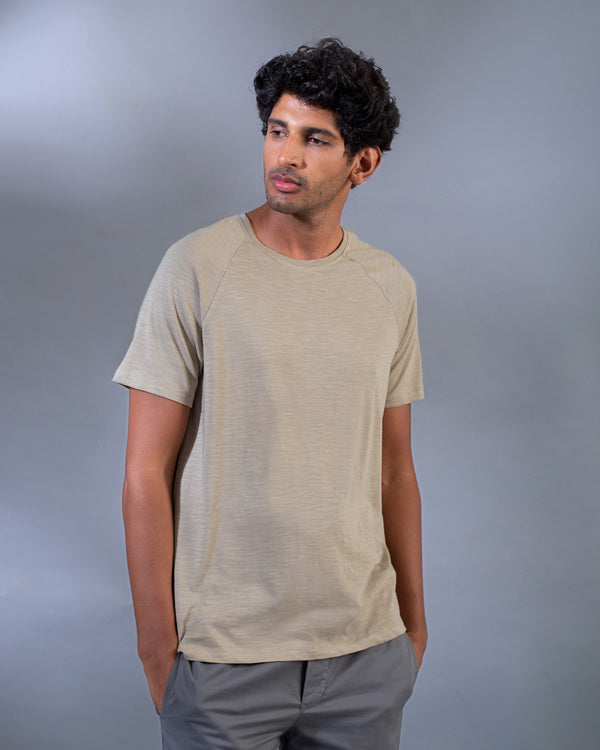 Raglan Sleeve T-Shirt - Tan