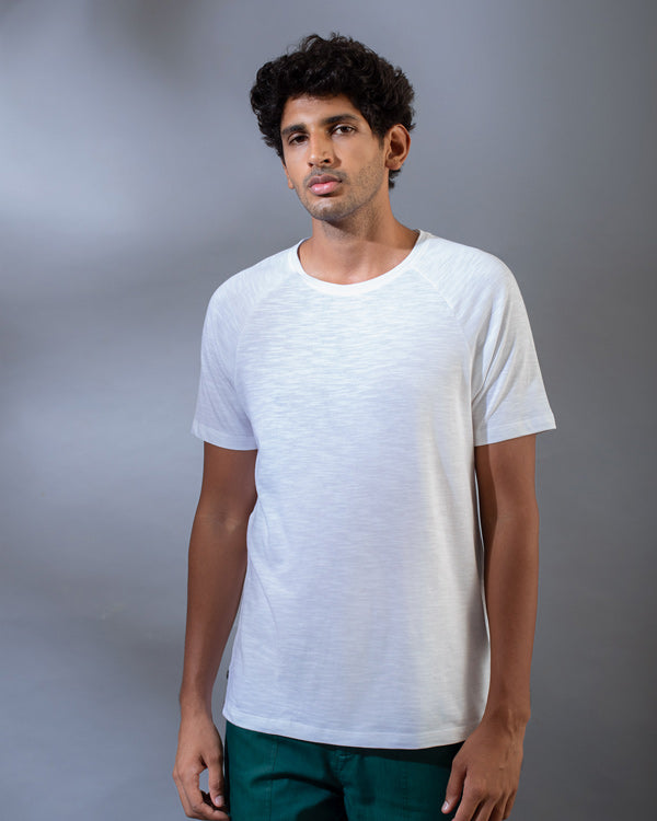 Raglan Sleeve T-Shirt - White