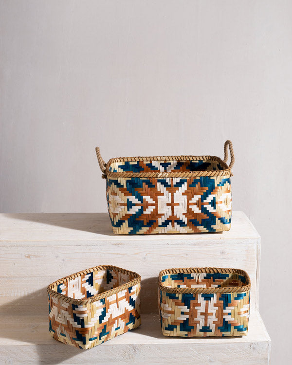 Kuba Bamboo Baskets (Set of 3)