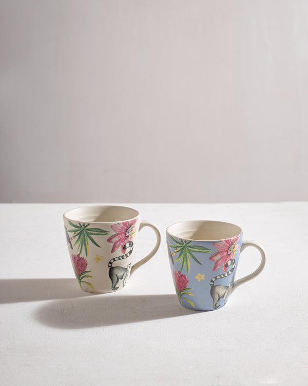 Lemur Mugs (Set of 2)