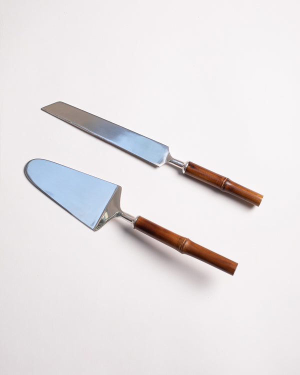 Oasis Cake Knife & Server (Set of 2)
