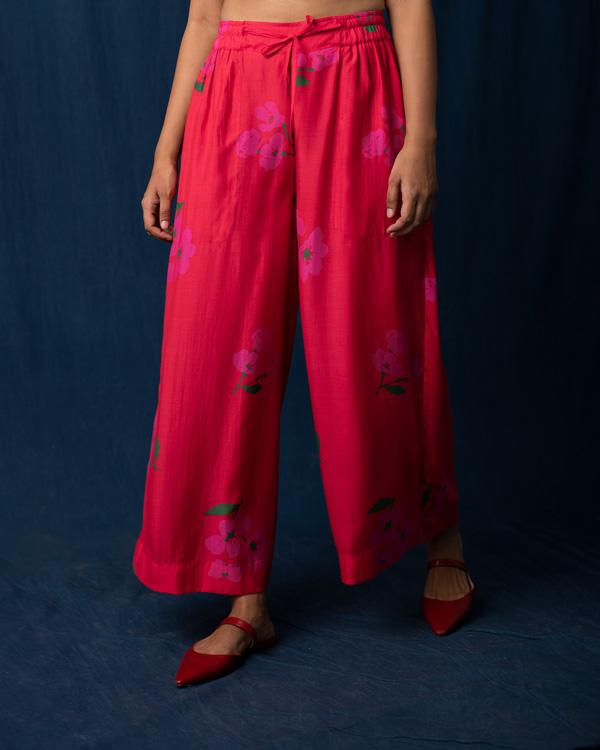Flared Pants - Red