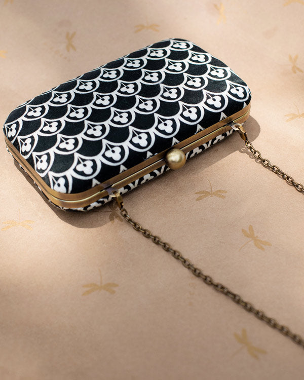 Martini Clutch - Black & White