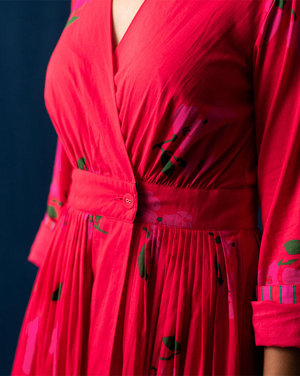 Nico Dress Midi - Red