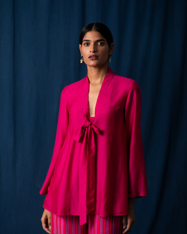 Necktie Top - Fuschia