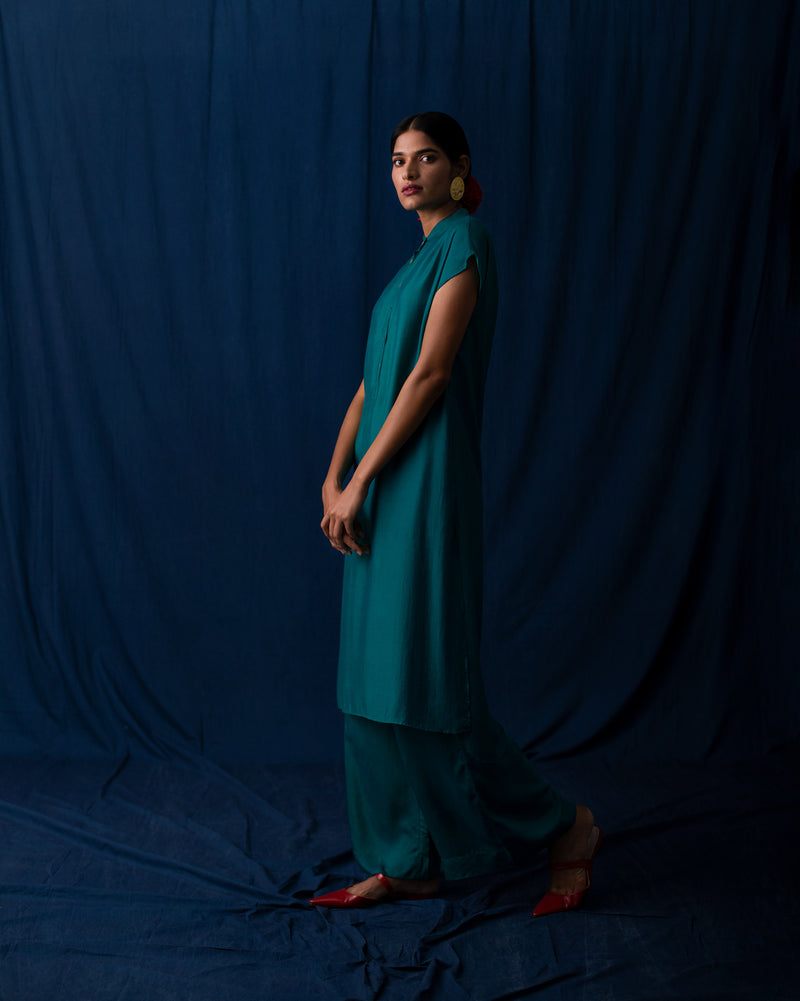 Short Sleeve Kurta - Teal