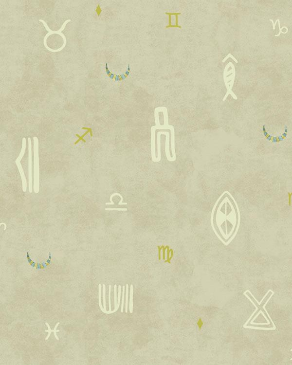 Indus Moon Wallpaper - Beige