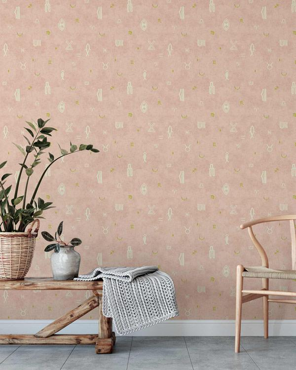 Indus Moon Wallpaper - Blush