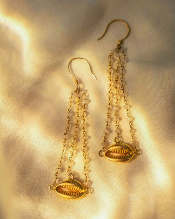 Moon-Salt Drop Earrings