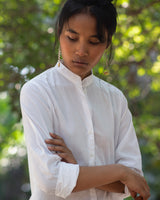 Basic Long Kurta - White